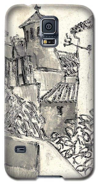 Galaxy S5 Case featuring the painting Caromb Village In Provence by Martin Stankewitz