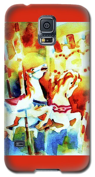Galaxy S5 Case featuring the painting Carousal 4 by Kathy Braud