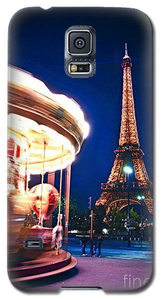 Carousel And Eiffel Tower Galaxy S5 Case by Elena Elisseeva