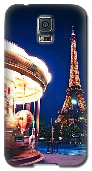 Carousel And Eiffel Tower Galaxy S5 Case by Elena Elisseeva