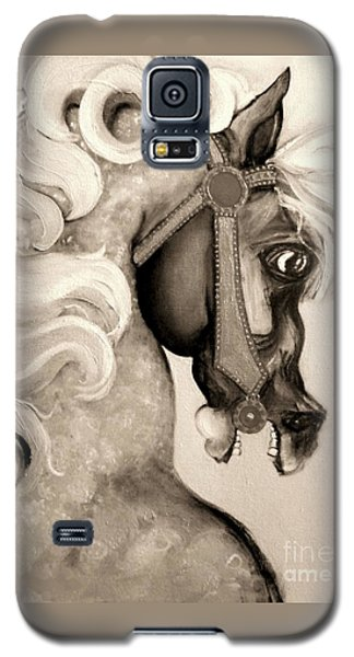 Galaxy S5 Case featuring the mixed media Carousel by Carolyn Weltman
