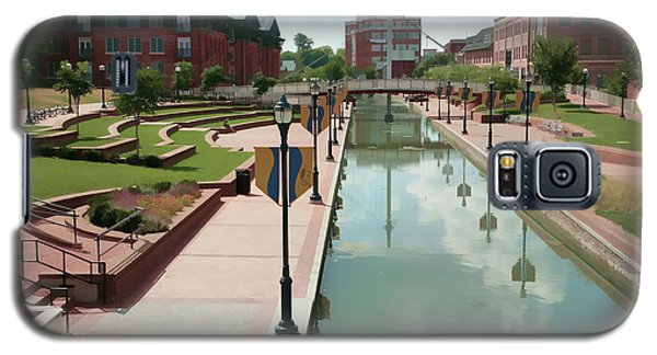 Carroll Creek Park In Frederick Maryland With Watercolor Effect Galaxy S5 Case