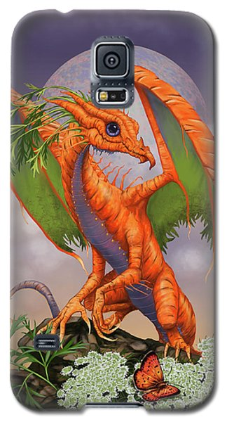 Galaxy S5 Case featuring the digital art Carrot Dragon by Stanley Morrison