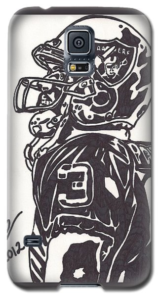 Galaxy S5 Case featuring the drawing Carson Palmer 1 by Jeremiah Colley