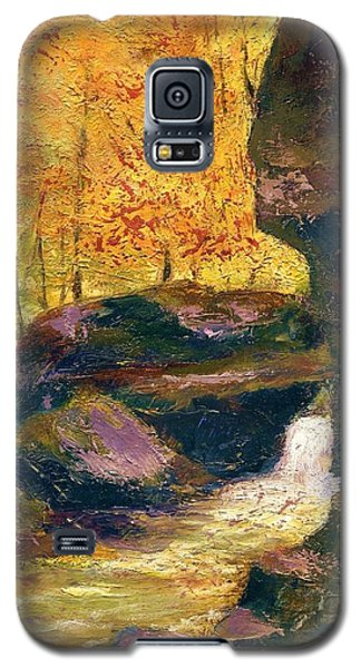 Galaxy S5 Case featuring the painting Carter Caves Kentucky by Gail Kirtz