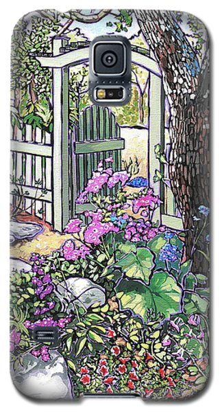 Galaxy S5 Case featuring the painting Carter Garden by Nadi Spencer