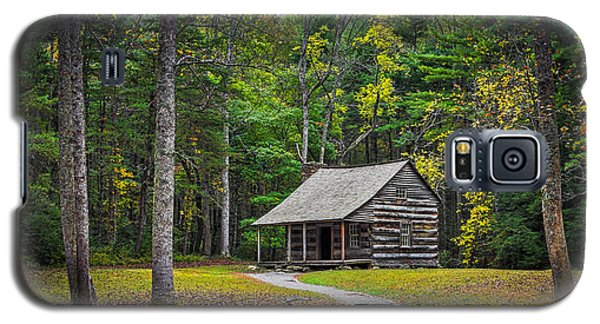 Carter Shields Cabin In Cades Cove Tn Great Smoky Mountains Landscape Galaxy S5 Case