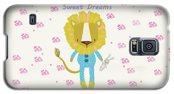 Cartoon Sweet Dreams Lion Galaxy S5 Case