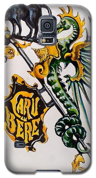 Caru Cu Bere - Antique Shop Sign Galaxy S5 Case by Dora Hathazi Mendes