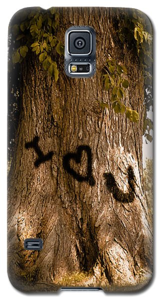 Carve I Love You In That Big White Oak Galaxy S5 Case