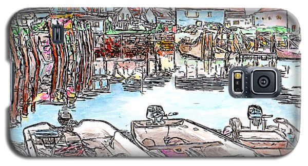 Carvers Harbour With Boats , Vinal Haven,  Maine Galaxy S5 Case