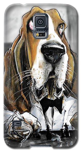 Casablanca Basset Hound Caricature Art Print Galaxy S5 Case