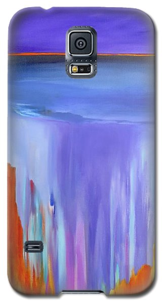 Galaxy S5 Case featuring the painting Casade by Jo Appleby