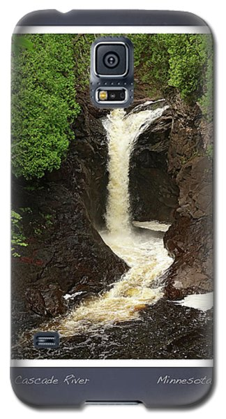Galaxy S5 Case featuring the photograph Cascade River Scrapbook Page by Heidi Hermes