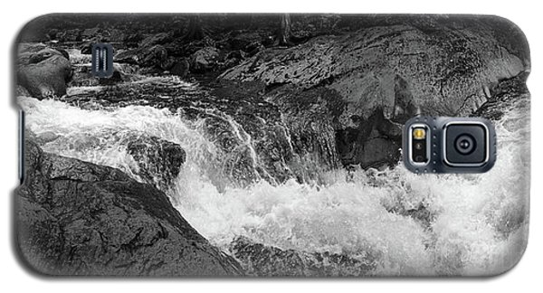 Cascade Stream Gorge, Rangeley, Maine  -70756-70771-pano-bw Galaxy S5 Case