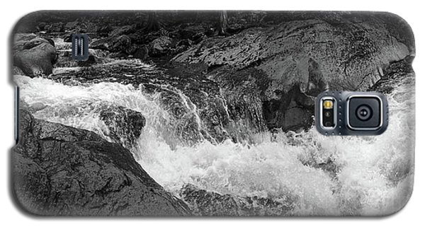 Galaxy S5 Case featuring the photograph Cascade Stream Gorge, Rangeley, Maine  -70756-70771-pano-bw by John Bald