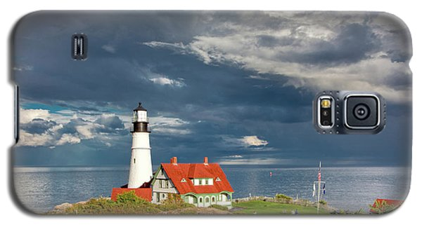 Galaxy S5 Case featuring the photograph Casco Bay Lookout by Susan Cole Kelly