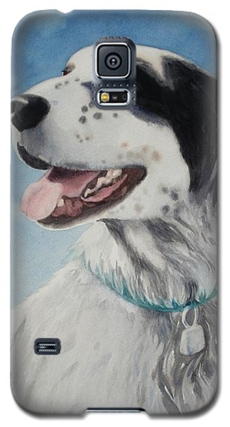 Galaxy S5 Case featuring the painting Casey by Marilyn Jacobson