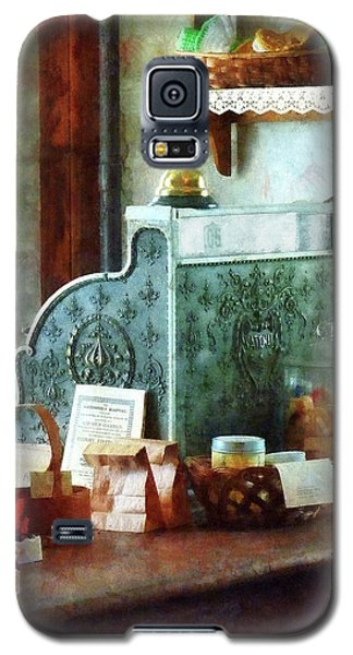 Galaxy S5 Case featuring the photograph Cash Register In General Store by Susan Savad