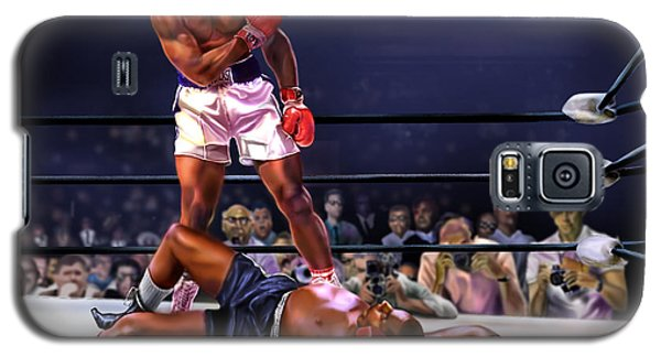 Boxing Muhammad Ali Galaxy S5 Case - Cassius Clay Vs Sonny Liston by Reggie Duffie