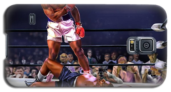 Cassius Clay Vs Sonny Liston Galaxy S5 Case
