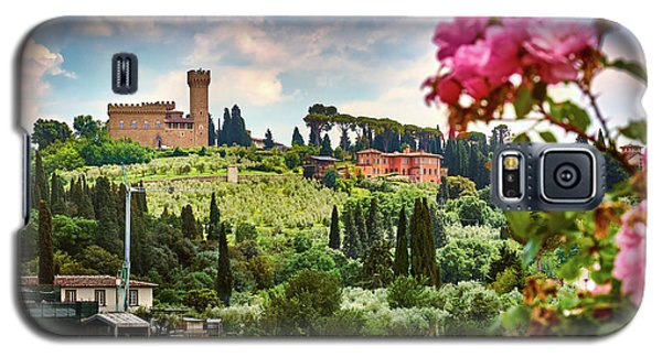 Castle And Roses In Firenze Galaxy S5 Case