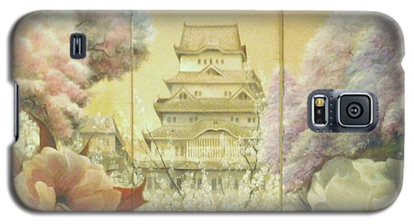 Castle Himeji - Sakura Galaxy S5 Case by Sorin Apostolescu