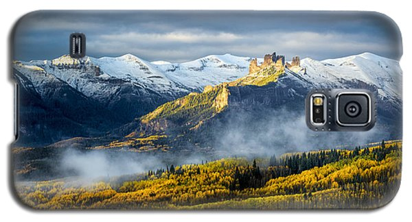 Galaxy S5 Case featuring the photograph Castle In The Clouds by Phyllis Peterson