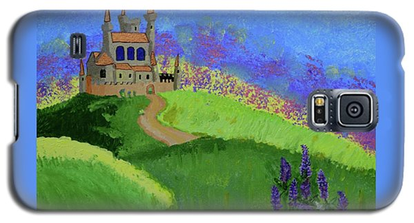 Galaxy S5 Case featuring the painting Castle In The Sky by Johanne Peale