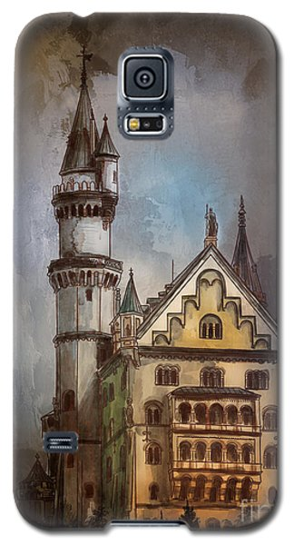 Galaxy S5 Case featuring the painting Castle Neuschwanstein by Andrzej Szczerski