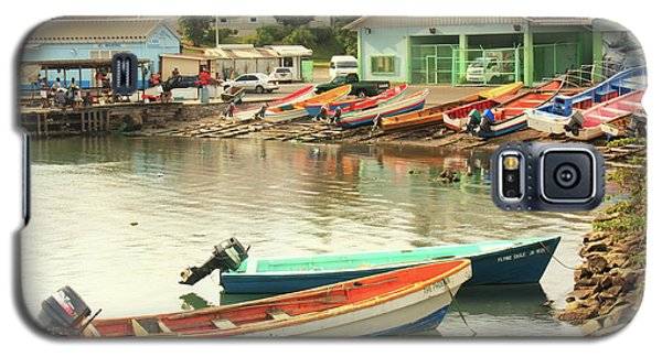 Galaxy S5 Case featuring the photograph Castries Harbor Waterfront by Roupen  Baker