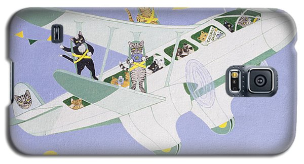 Cat Air Show Galaxy S5 Case by Pat Scott