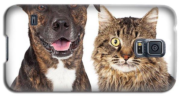 Cat And Dog Closeup Galaxy S5 Case