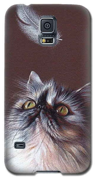 Cat And Feather Galaxy S5 Case by Elena Kolotusha