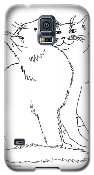 Cat-art-curious Galaxy S5 Case