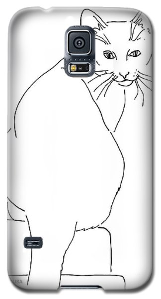 Cat-artwork-prints Galaxy S5 Case by Gordon Punt