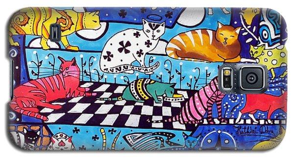 Cat Cocktail - Cat Art By Dora Hathazi Mendes Galaxy S5 Case by Dora Hathazi Mendes