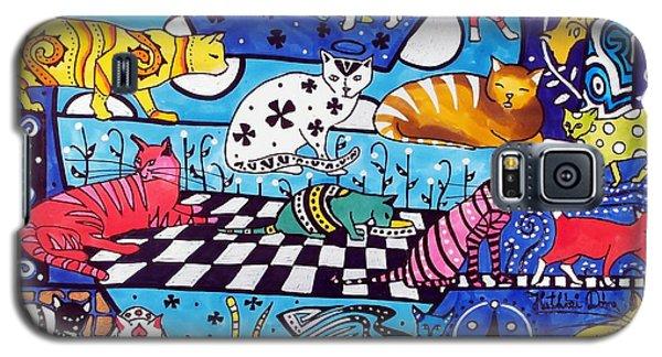 Cat Cocktail - Cat Art By Dora Hathazi Mendes Galaxy S5 Case