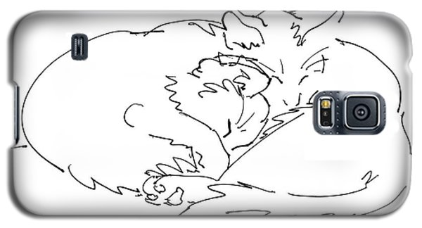 Cat Drawings 2 Galaxy S5 Case
