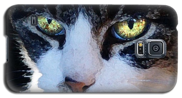 Galaxy S5 Case featuring the digital art Cat Eyes by Jana Russon