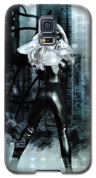 Cat Girl Comic Like Pinup Galaxy S5 Case