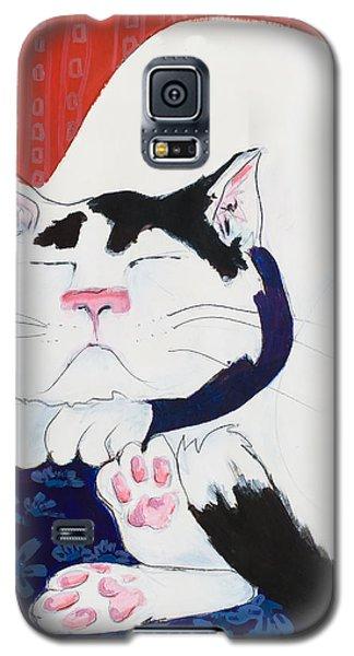 Cat I - Asleep Galaxy S5 Case by Leela Payne