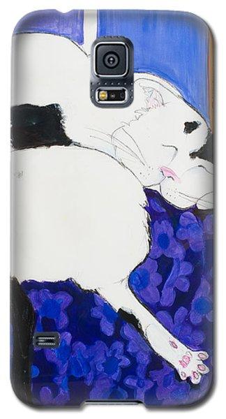 Cat IIi Peaceful   Galaxy S5 Case by Leela Payne