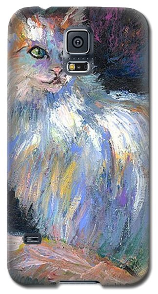 Galaxy S5 Case - Cat In A Sun Painting By Svetlana by Svetlana Novikova