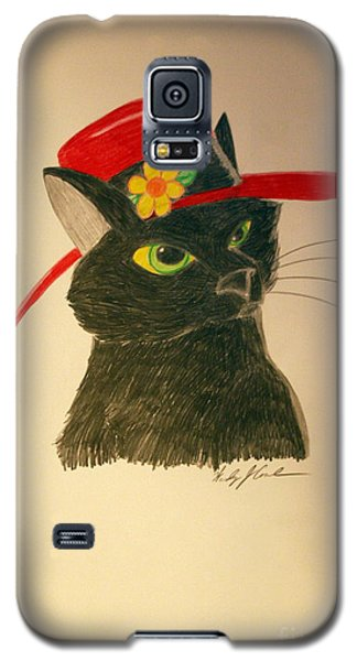 Cat In The Red Hat Galaxy S5 Case by Wendy Coulson