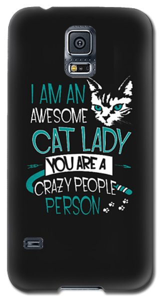 Cat Lady Galaxy S5 Case by Jackie Robinson