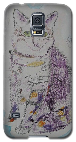 Galaxy S5 Case featuring the painting Cat Named Jade by AJ Brown