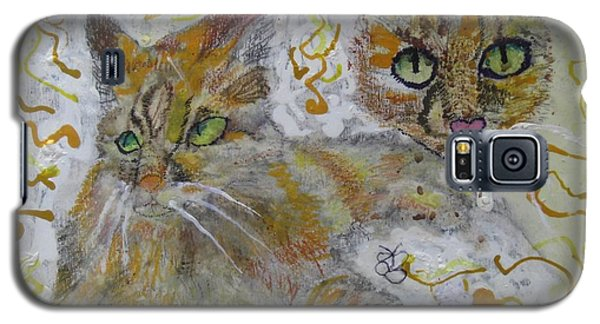 Galaxy S5 Case featuring the painting Cat Named Phoenicia by AJ Brown