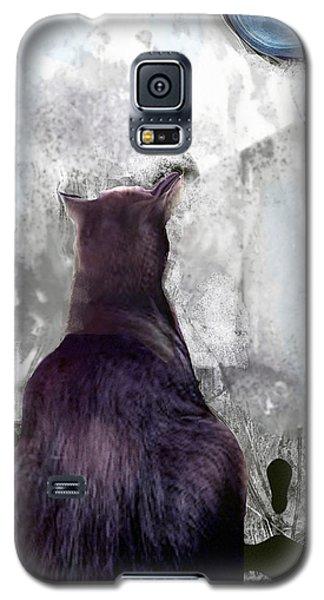 Cat's Blue Moon Galaxy S5 Case