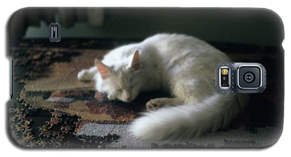 Cat On A Puzzle Galaxy S5 Case